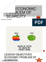 economic problem of scarcity lesson one