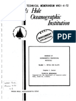 HANDBOOK OF OCEANOGRAPHIC ENGINEERING MATERIALS
