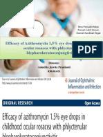 Efficiency of Azithromysin 1,5% Eye Drops In