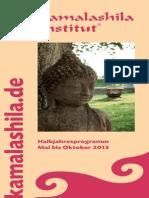 Kamalashila Institut - Programm Mai - Oktober 2013
