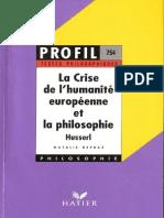 Husserl, La crise de  l' humanité européen