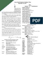 September 15, 2013 Bulletin