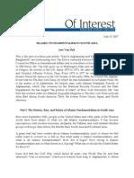 Islamic Fundamentalism in South Asia