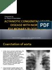 Acyanotic Congenital Heart Disease With Normal Pulmonary Blood Flow