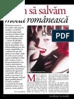 0XX-0XX Cum Salvam Moda Romaneasca- Varianta Finala