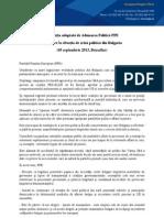Rezolutia Adoptata de PPE - Situatia de Criza Politica Din Bulgaria
