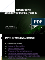 Areas of Management Advisory Services 1