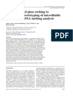 (2007) Comparison of Glass Etching to Xurography Prototyping of Microfluidic Channels for DNA Melting Analysis