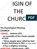 Origin of the Church