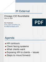 Making KM External - eSentio Chicago CIO Roundtable - June 2004