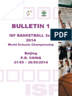 ISF Basketball 3x3 2014 Bulletin 1 E