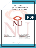 Report on Strategic Tools Analysis_Pharmaceutical Industry.