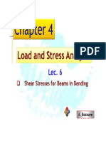 Files-2-Lectures LEC 06 Shear Stresses for Beams in Bending