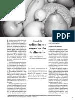 Sobre La Radiacion de Alimentos