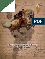 Bolivar Tiempo y Vigencia Del Hombre de Las Dificultades
