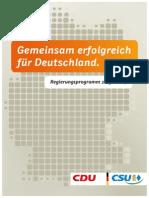 Cdu Csu Regierungsprogramm 2013 2017 Langfassung 20130911