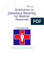 FEMA Orientation to Hazardous Materials for Medical Personnel