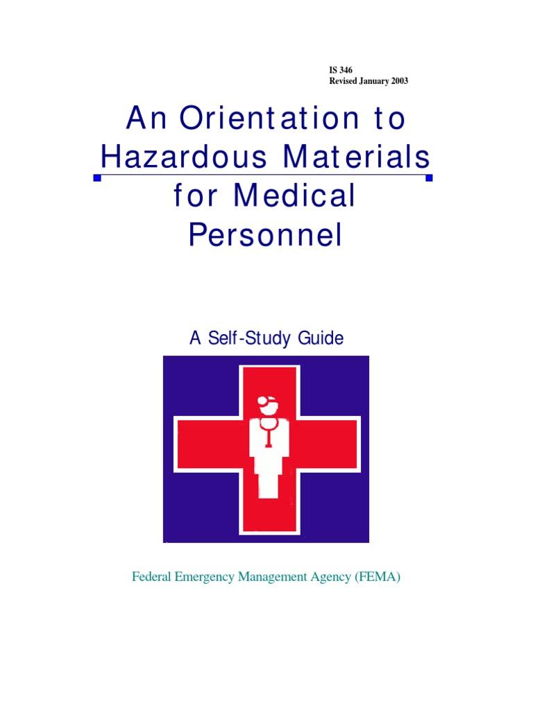 FEMA Orientation to Hazardous Materials for Medical Personnel   Explosive  Material   Dangerous Goods