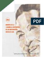 Cartilha nº 2 - Memorias de la asamblea espanol BAIXA RESOLUÇÃO