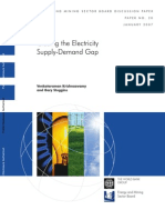 Closing the Electricity Supply Demand Gap_World Bank2007_CaseRD