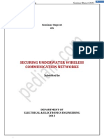 Underwater Wireless Communication Networks Seminar
