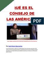 ¿QUÉ ES EL CONSEJO DE LAS AMÉRICAS?- Por José Arturo Quarracino