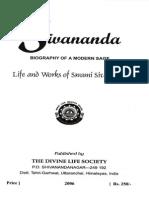 Sivananda Biography of a Modern Sage Devotees
