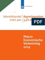 Macro Economische Verkenning 2014