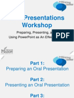 Oral Presentations & Writing for PowerPoint.ppt