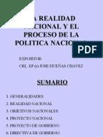 Realidad Nacional y el Proceso de la Politica Peruana
