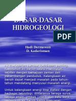 Hidrogeologi Dasar