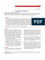 Non Syndromic Generalised Macrodontia(1)