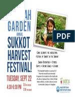 Flyer Sukkot Festival KG