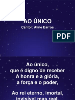 Ao único - Aline Barros