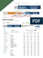 Ashok Leyland Profit & Loss Account, Ashok Leyland Financial Statement & Accounts