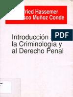Introduccion a la Criminologia y al Derecho Penal - Winfried Hassemer, Francisco Muñoz Conde