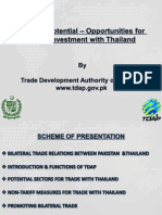 Pakistan's Potential – Opportunities for Trade & Investment in Thailand
