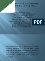 Apresentação LEITURA ESCRITA E A DIVERSIDADE CULTURAL