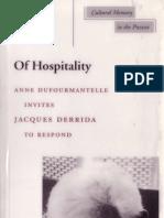 Derrida, J - Of Hospitality (Stanford, 2000).pdf