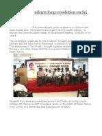 Tamil Nadu Students Forge Resolution on Sri Lanka