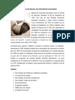 Biografia de Miguel de Cervantes Saavedra