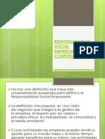 Responsabilidad Social Empresarial o Corporativa
