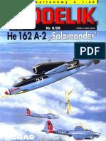 Paper Model Scale 1.33 Heinkel HE162