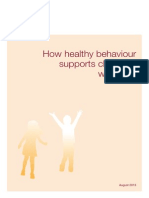 How healthy behaviour supports children's wellbeing