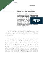 SenadoRep.TRANSPARENCIA RDC COMBATE CORRUPCIÓN PEMEX 17 de julio de 2008