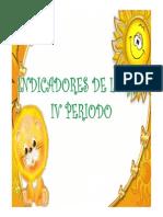Indicadores de Logro 4 Periodo