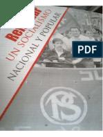 Folleto Del Partido Socialista Argentino en El Kirchnerismo- Refundar Un Socialismo Nacional y Popular