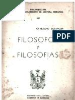 Cayetano Betancur, Filósofos y filosofías, Portada y prólogo (1969)