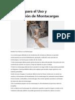 Normas para el Uso y Conducción de Montacargas