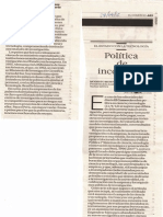 Artículo Modesto Montoya - El Comercio 28.04.12